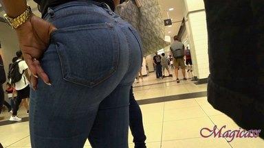 #6 Tiny waist with Jiggily Big Ass Blue Jeans