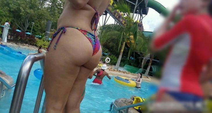 Sexy Butt Latina Bikini Pool