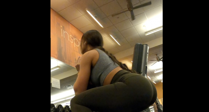 Sexy Booty in Spandex Gym Part 2