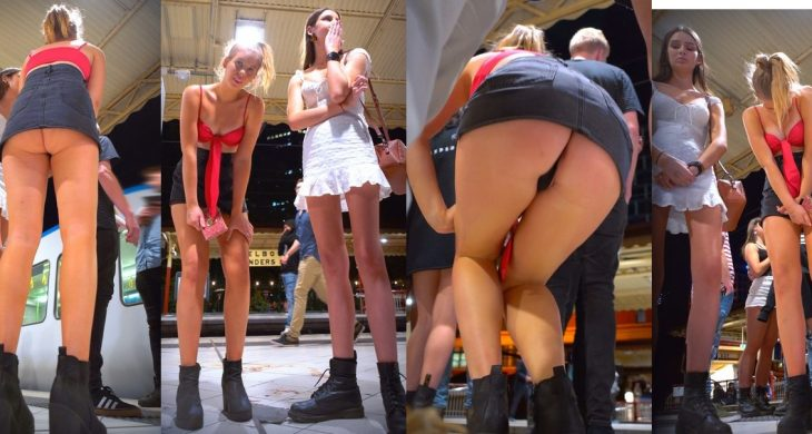One of the Shortest Skirts I've Ever Seen On A Club Girl