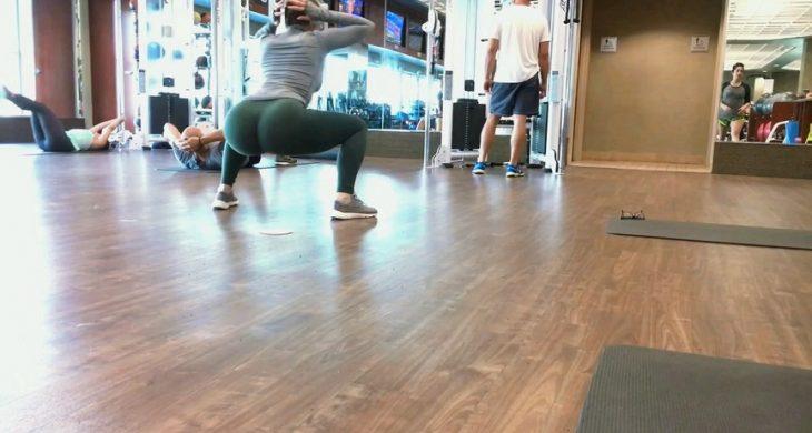 Amazing Blonde BigBooty Gym in Spandex Part 3