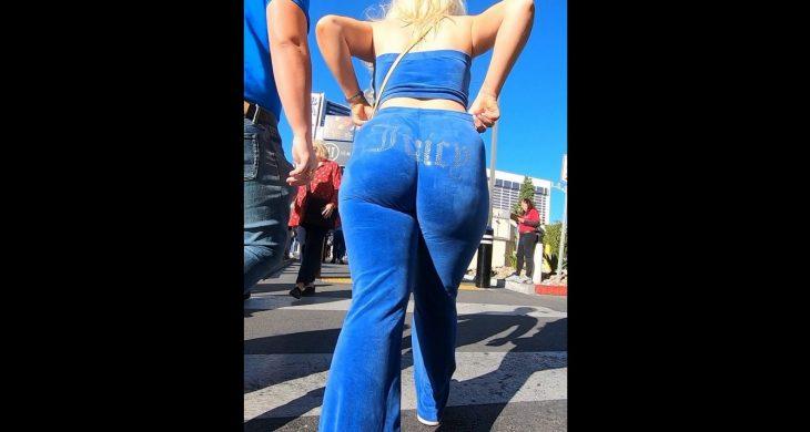 Breakneckcandids Sexy Girl Blonde Juicy PAWG Blue