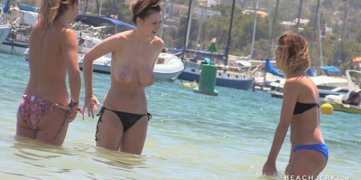 BeachJerk Sexy Teen Showing Big Boobs