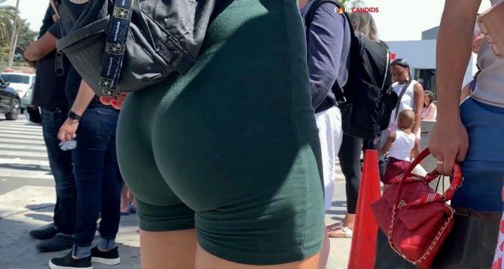 Asian Sexy Babe Spandex Short Shooter Firecandids