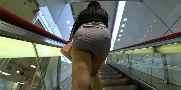 Is very Hot Asian Girl with Sexy Mini Skirt