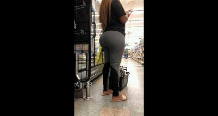 Nice Babe Big Butt Spandex Shoping