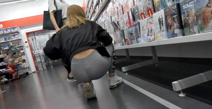 Teen VPL Tight Ass Spandex Leggings