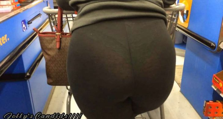Big Butt Blondie with the VPL Checkout