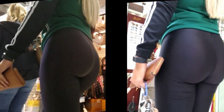 Teen Booty Spandex in the Shopping