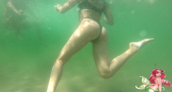 Sexy Babe with beautiful ass swimming CandidCalifas
