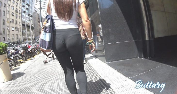 Black Leggings VPL Sexy Teen Argentina ButtArg