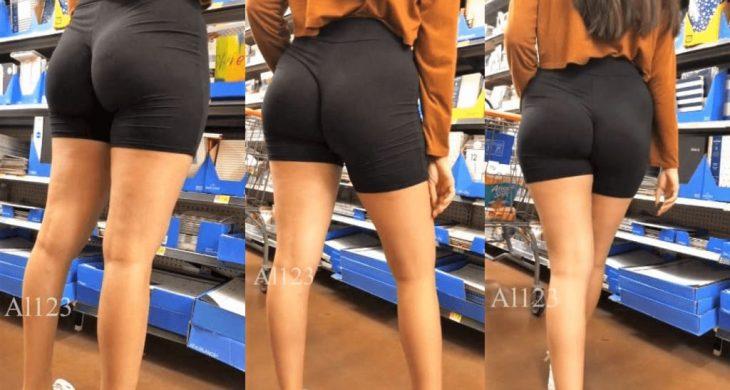 Biker Shorts Tall Latina Cutie Sexy Booty