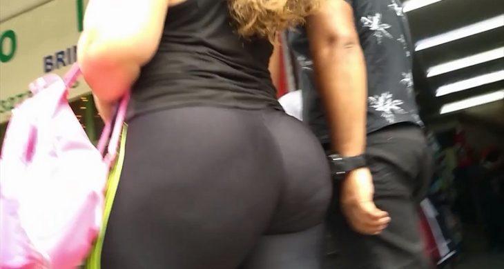 Big Bootys Sexy Spandex Walking Thong
