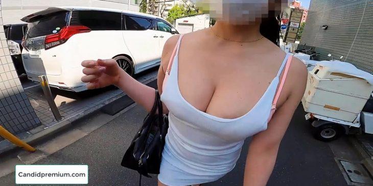 Big Boobs JAV Asian Girl Downblouse Sexy